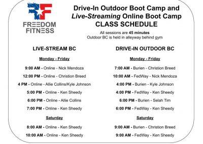 Online-Outdoor BC Schedule